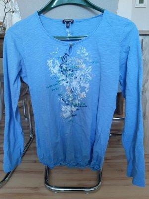 Kenny S. Cardigan long bleu fluo coton