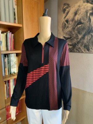 Langarmshirt in schwarz/rot