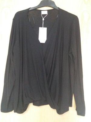 Vila Clothes Wraparound Shirt black polyester
