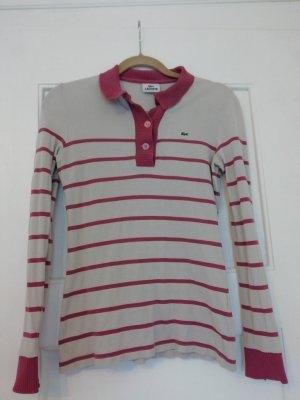 Lacoste Camiseta tipo polo crema-rosa