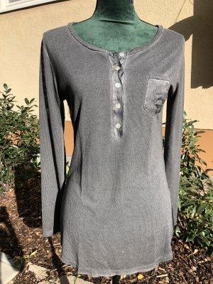 Langarmshirt, Made in Italy, dunkelgrau, Gr. S, Neu