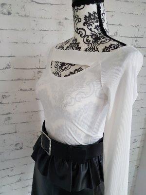 Ohne Prążkowana koszulka biały