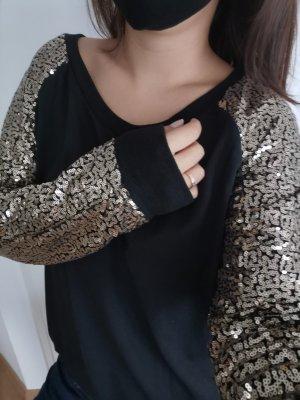 Boothalsshirt zwart-goud