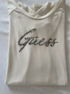 Guess Koszulka z długim rękawem jasnobeżowy Bawełna
