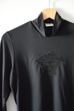Langarmshirt mit Medusa schwarz - Versace  Jeans Couture