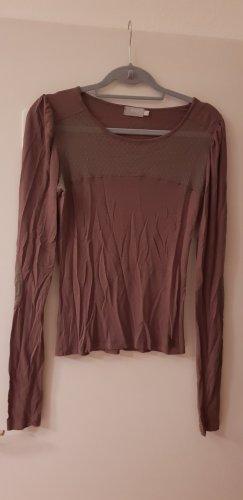Langarmshirt mit Netzeinsatz Gr.38/40
