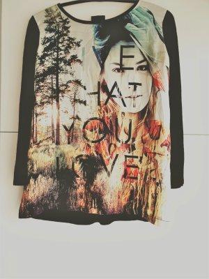 Langarmshirt mit Print  - Größe L -