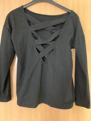 Camicia lunga nero Cotone