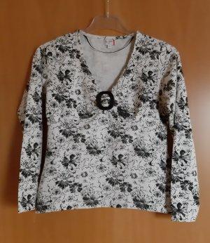 NKD Camisa de cuello barco blanco-negro