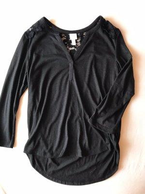 H&M Longesleeve zwart Polyester