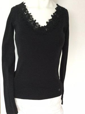 AJC V-Neck Shirt black cotton