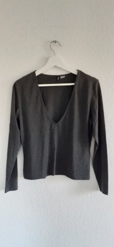 H&M Divided Camicia cropped grigio