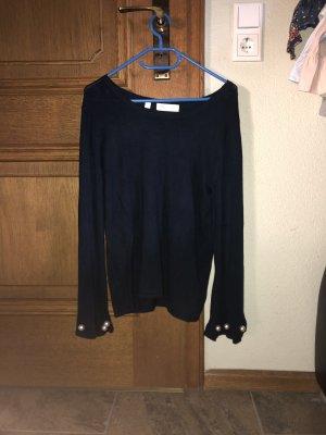 Bon Prix Koszulka z długim rękawem ciemnoniebieski