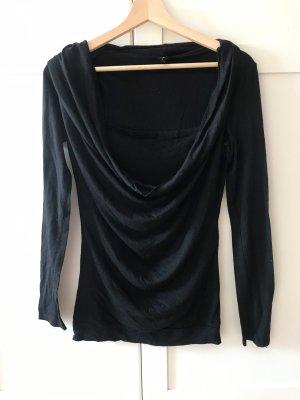 Amisu Camisa con cuello caído negro