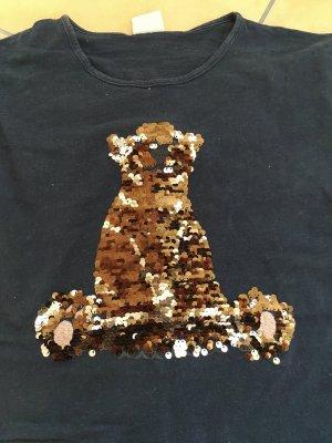 Langarmshirt mit Wendepaillettenbär