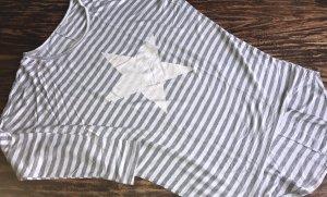unbekannte Długi sweter bez rękawów biały-szary