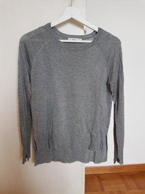 Langarmshirt, Pullover, langärmliges Shirt, grau, ZARA, S