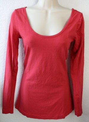 Langarmshirt, rot, basic