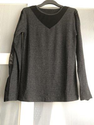 Langarmshirt S oder M grau schwarz