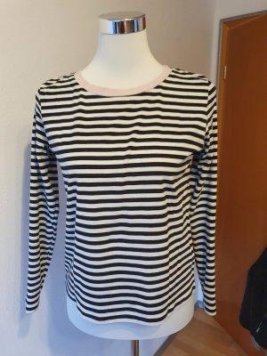 Langarmshirt schwarz weiß gestreift von H&M