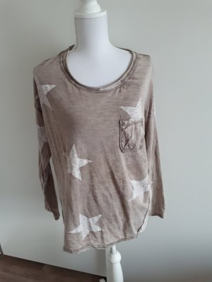 Langarmshirt Shirt Bluse Sterne
