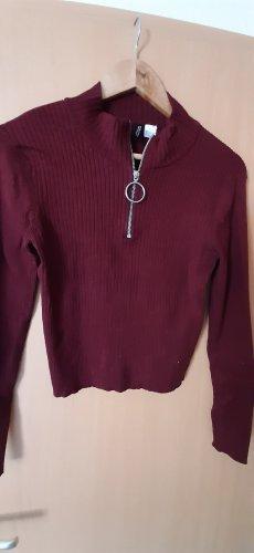 H&M Camisa acanalada púrpura