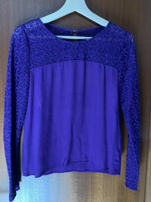 Only Camicia lunga lilla-viola scuro
