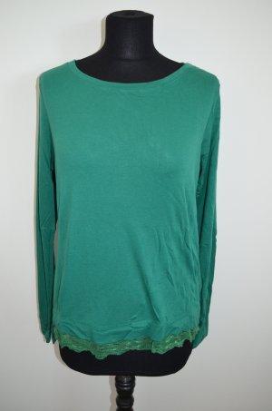 Langarmshirt, T-Shirt, Spitze, Grün