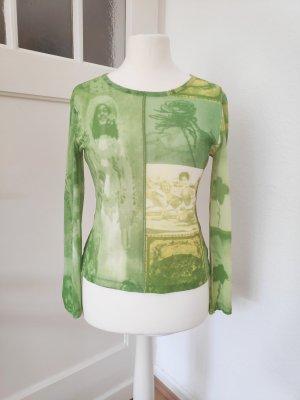 Langarmshirt transparent grün Größe 38