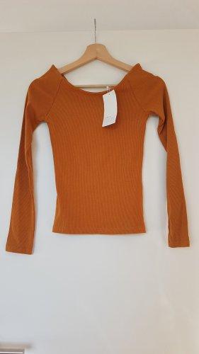 Zara Boatneck Shirt dark orange
