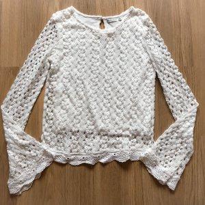 Bershka Camicia maglia bianco