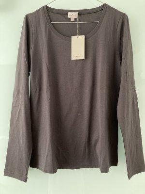 Cyrillus Shirt basique gris foncé coton