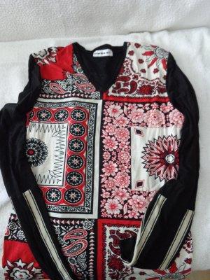Langarmshirt von Public rot/schwarz/weiß Gr. 38