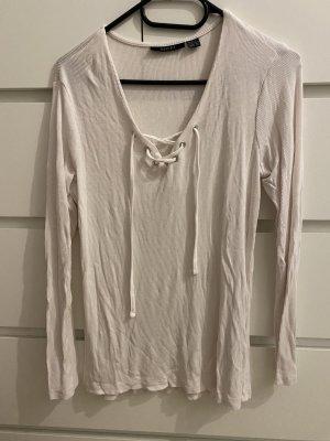 Esmara Ribbed Shirt white-silver-colored