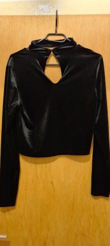 H&M Divided Blusa-camisa negro Algodón