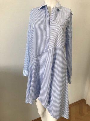 Eterna Camicetta lunga bianco-azzurro Cotone