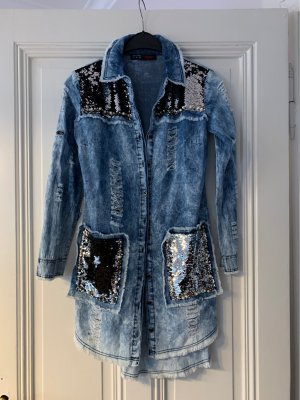 signet Blouse en jean bleu clair