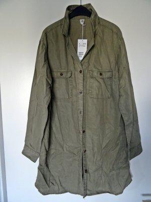 Lange Bluse in khaki