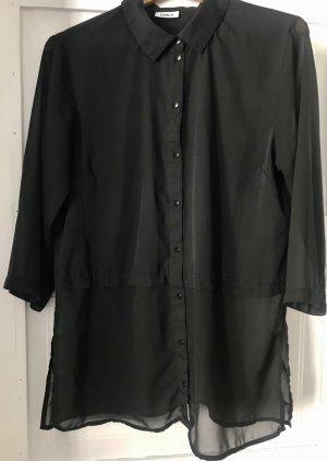 Lange Bluse mit durchsichtigem Stoff l Only