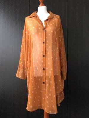 Lange Bluse mit Punkten