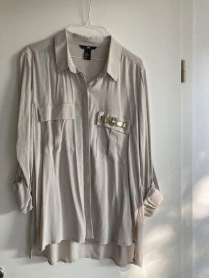 Lange Bluse mit Steinbesatz von H&M