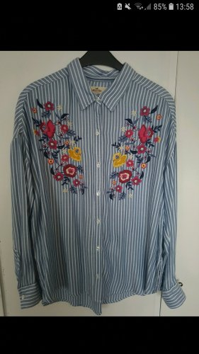 Hollister Oversized blouse wit-azuur