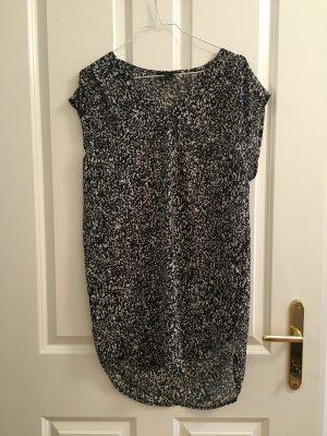 H&M Blusa larga negro-blanco