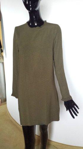 Lange Bluse von H&M in olivgrün, Viskose, Gr. 36
