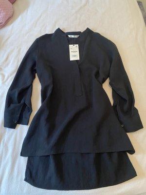Zara Long Blouse black