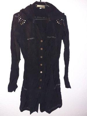 Biba Vestido camisero negro