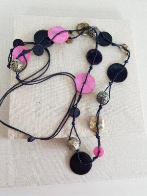 Statement Necklace blue violet-black