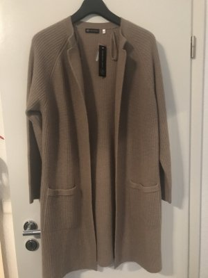 C&A Coarse Knitted Jacket sand brown cashmere