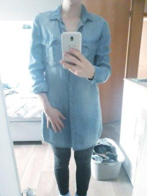 H&M Bluzka jeansowa niebieski-jasnoniebieski