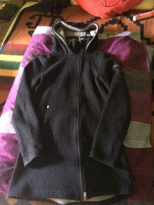 Lange Damen Jacke mit Kapuze